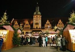 Weihnachtsmarkt in Leipzig am Alten Rathaus