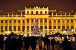 Weihnachtsmarkt in Wien am Schloss Schoenbrunn