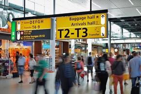 Flugreisen - Hektik am Flughafen