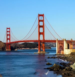 San Francisco - die Golden Gate Brücke