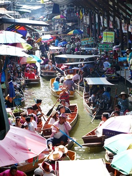 Thailand - schwimmende Märkte in Bangkok